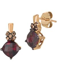 Le Vian | Chocolatier Diamond, Rhodolite & 14k Rose Gold Stud Earrings | Lyst