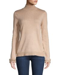 Calvin Klein - Mockneck Pullover Sweater - Lyst
