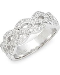 Saks Fifth Avenue | Silver Criss-cross Ring | Lyst