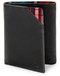 Robert Graham - Derby Leather Tri-fold Wallet - Lyst