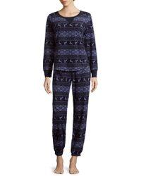 Jane And Bleecker - Graphic-print Pajamas - Lyst