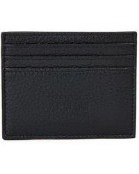 Armani - Nero Leather Cardholder - Lyst