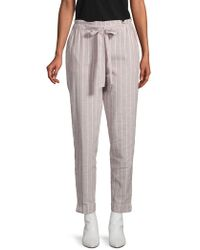 Beach Lunch Lounge - Pinstripe Linen & Cotton Pants - Lyst