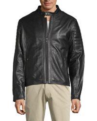 William Rast - Long-sleeve Leather Moto Jacket - Lyst