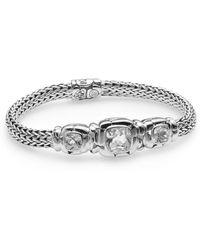 John Hardy - Batu White Topaz & Sterling Silver Three-stone Bracelet - Lyst