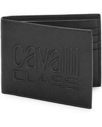 Class Roberto Cavalli - Leather Logo Bi-fold Wallet - Lyst