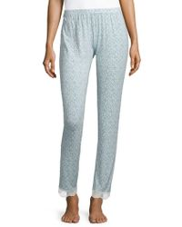 Eberjey - Printed Slim Trousers - Lyst