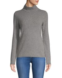 Saks Fifth Avenue - Mockneck Cashmere Sweater - Lyst