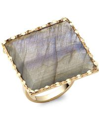 Lana Jewelry - Gloss Studded Gold Ring - Lyst