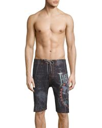 Affliction - Print Boardshorts - Lyst