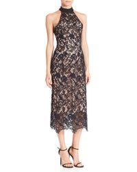Nicholas - Wallpaper Lace Halter Dress - Lyst