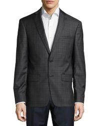 John Varvatos - Regular Fit Checked Wool Sportcoat - Lyst