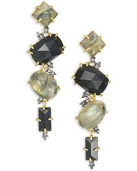 Alexis Bittar - Elements Dark Alchemy Labradorite Linear Spiky Drop Earrings - Lyst