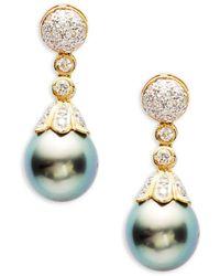 Tara Pearls - Tahitian Pearl Polished Dangle & Drop Earrings - Lyst