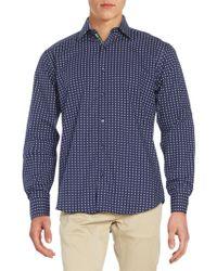 Bugatchi - Long Sleeve Woven Shirt - Lyst