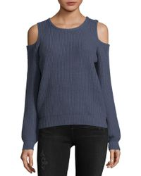 Philosophy By Republic - Cold-shoulder Ribbed Pullover - Lyst
