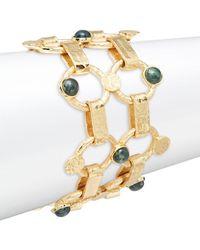 Stephanie Kantis - Chantilly Green Moss Agate Thin Bracelet - Lyst