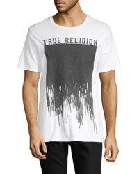 True Religion - Painted Buddha Cotton Crew Tee - Lyst
