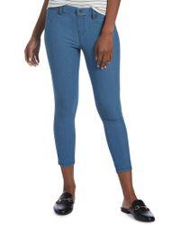 Hue - Ankle Slit Essential Denim Capri Trousers - Lyst