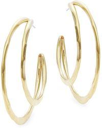 Robert Lee Morris - Double Hoop Earrings - Lyst
