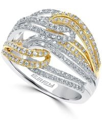 Effy - Diamond, 14k White Gold & Yellow Gold Ring - Lyst