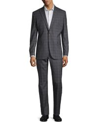 Kenneth Cole - Plaid Wool Suit - Lyst