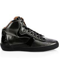Bally - Eroy High Top Metallic Sneakers - Lyst