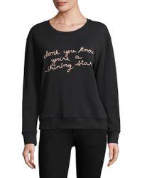Joie - Cotton Embroidered Sweatshirt - Lyst