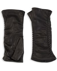 Saks Fifth Avenue - Fingerless Leather Gloves - Lyst
