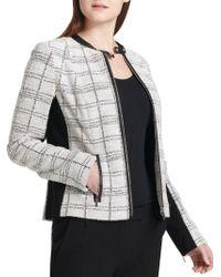 Calvin Klein - Tweed Center Zip Jacket - Lyst