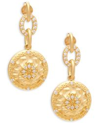 Freida Rothman - Crystal And Sterling Silver Drop Earrings - Lyst
