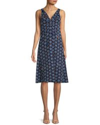 Marni - Embroidered Sleeveless Flare Dress - Lyst