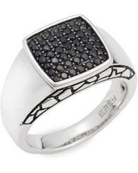 Effy - Black Sapphire & Sterling Silver Slip-on Ring - Lyst