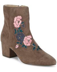 Steven by Steve Madden - Brooker Suede Embroidered Ankle Boots - Lyst