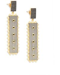 Freida Rothman - 14k Yellow Gold & Sterling Silver Linear Earrings - Lyst