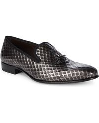 Mezlan - Tassel Leather Smoking Slippers - Lyst