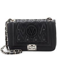 Valentino By Mario Valentino - Beatriz Studded Leather Crossbody Bag - Lyst