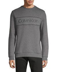 Calvin Klein - Long Sleeve Crewneck Pullover - Lyst