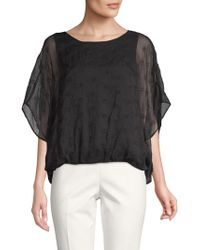 Vince Camuto - Embroidered Eyelet Top - Lyst