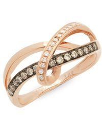 Le Vian - Chocolatier® 14k Strawberry Gold®, Vanilla Diamond® & Chocolate Diamond® Ring - Lyst