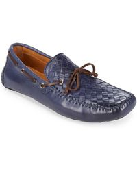 Saks Fifth Avenue | Woven Penny Leather Moccasins | Lyst