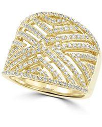 Effy - Diamond And 14k Yellow Gold, 0.8 Tcw Ring - Lyst