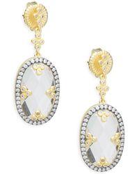Freida Rothman - Mirror Mirror Sterling Silver Drop Earrings - Lyst