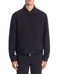 Vince - Spread Collar Bomber Jacket - Lyst