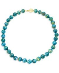 Tara Pearls - Opaline Glass Beaded Choker Necklace - Lyst