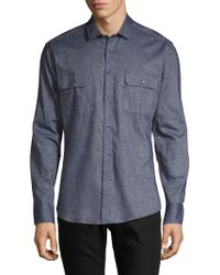 Vince Camuto - Textured Flannel Button-down Shirt - Lyst