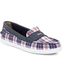Cole Haan - Nantucket Checked Penny Loafers - Lyst