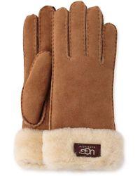 UGG - Turn-cuff Sheepskin-trimmed Leather Gloves - Lyst