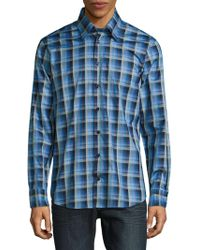 Robert Talbott - Casual Checked Cotton Sportshirt - Lyst