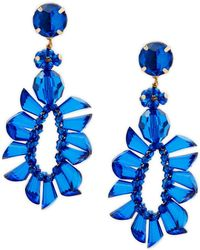 Natasha Couture - Oversized Drop Earrings - Lyst